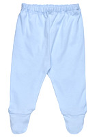 FOOTED PANT BLUE